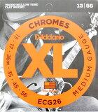 D''Addario ECG26/フラットワウンド エレキギター弦 ダダリオのエレキギター弦。フラットワウンド、13-56弦 fs04gm