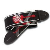 """GIBSON ASGG-600 2"""" Woven Strap with Gibson Logo-Red ギターストラップ"""