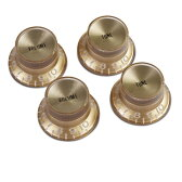 Gibson PRMK-030 Top Hat Style Knobs Gold W/ Gold Metal Insert ノブ