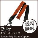 Taylor Suede-Poly Strap Copper 65125 ギターストラップ