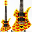 BURNY by FERNANDES YH-JR/HY Yellow Heart Jr. hideモデル ミニギター