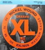 D#039;Addario EXL160S 游击手比例尺用基本弦 DadaRio 游击手比例尺用基本弦[D''Addario EXL160S ショートスケール用ベース弦]