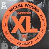 D''Addario EXL160TP/Medium 2セットパック ベース弦 ダダリオ ツインパックベース弦 ミディアムゲージ fs04gm