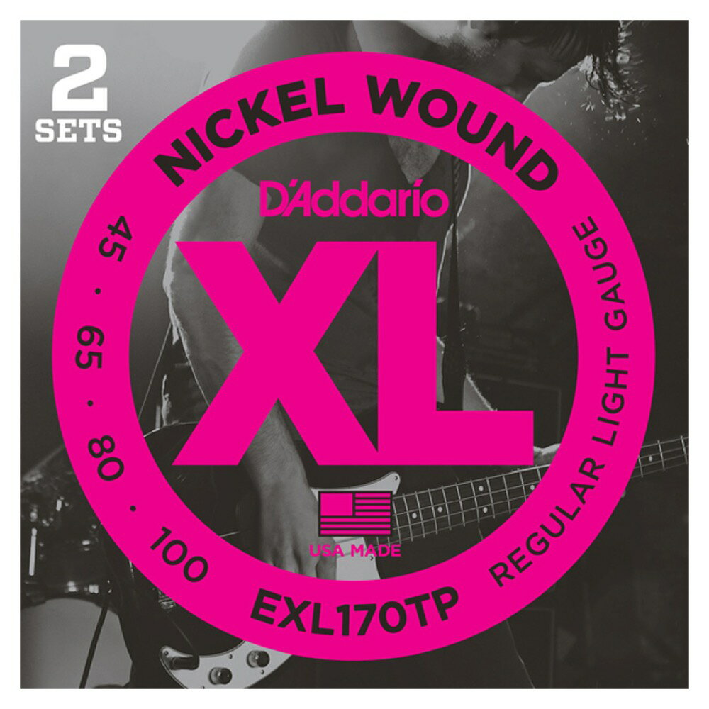 D'Addario EXL170TP/Regular Light 2セットパック ベース弦...:chuya-online:10069178