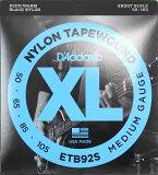 D'Addario ETB92S Black Nylon Tapewound エレキベース弦