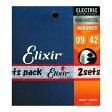 ELIXIR 12002 2パック NANOWEB Super Light 09-42 エレキギター弦