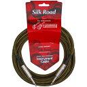 Silk Road LRG301-5 Color-C ブラウン ツイードクロス巻きシールドケーブル 5メートル