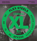 D''Addario EFX220 Flex Steels Super Light エレキベース弦