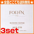 FOEHN AGS-570×3セット Acoustic Guitar Strings Extra Light 80/20 Bronze アコースティックギター弦 10-47