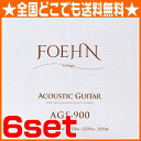 FOEHN AGS-900×6セット Acoustic Guitar Strings Custom Light 80/20 Bronze アコースティックギター弦 11-50