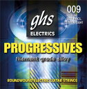 "GHS PRXL 09-42 Progressives Series×6SET エレキギター弦非常に軽くて丈夫な弦。研究を重ねた独自開発の""フィラメント・グレード・アロイ""と言う磁気を帯びた合金製のワイアーの採用により、ロングサスティーンで音色は非常にブライト。オールジャンルに対応出来る幅を持つ。ゲージ:009.011.016.PR24.PR32.PR426セットでの販売です。"