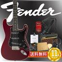 フェンダー エレキギター初心者セット ストラトタイプフェンダーから始める!大人の入門セット Fender Japan Exclusive Aerodyne Strat OCR エレキギター VOXアンプ付 11点セット