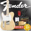 フェンダーから始める!大人の入門セット Fender Japan Exclusive Classic 70s Tele Ash Left Hand NAT/M エレキギター VOXアンプ付 10点セット