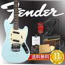 フェンダーから始める!大人の入門セット Fender Japan Exclusive Classic 60s Mustang DBL エレキギター VOXアンプ付 10点セット