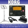 KORG TM-50-BK メトロチューナー Dicon Audio MUS-009 譜面台付き 4点セット