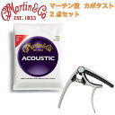 MARTIN M140 Light 12-54 アコースティックギター弦 FOEHN FCP-6G ギターカポタスト 2点セット