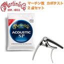 MARTIN MSP4100 92/8 Phosphor Bronze Light アコースティックギター弦 FOEHN FCP-6G ギターカポタスト 2点セット