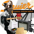 エレキギター入門10点セット Squier Scandal Haruna Telecaster Dark Silver Sparkle -Skullsilver-