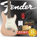 フェンダーから始める!大人の入門セット Fender Japan Exclusive Classic 60s Strat SLP エレキギター VOXアンプ付 10点セット