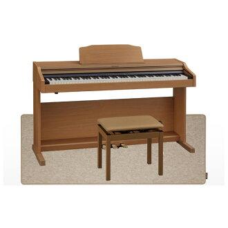 羅蘭 RP501R 國家統計局數碼鋼琴音天然樺木完成數位鋼琴音高靈活椅子 & 墊與鋼琴的設置