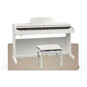 羅蘭 RP501R WHS 數碼鋼琴白色數位鋼琴音高靈活椅子 & 墊與鋼琴的設置