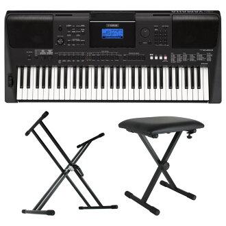 雅馬哈PSR-E453 PORTATONE 61鍵盤電子鍵盤Dicon Audio X型鍵盤枱燈鍵盤長椅3分安排