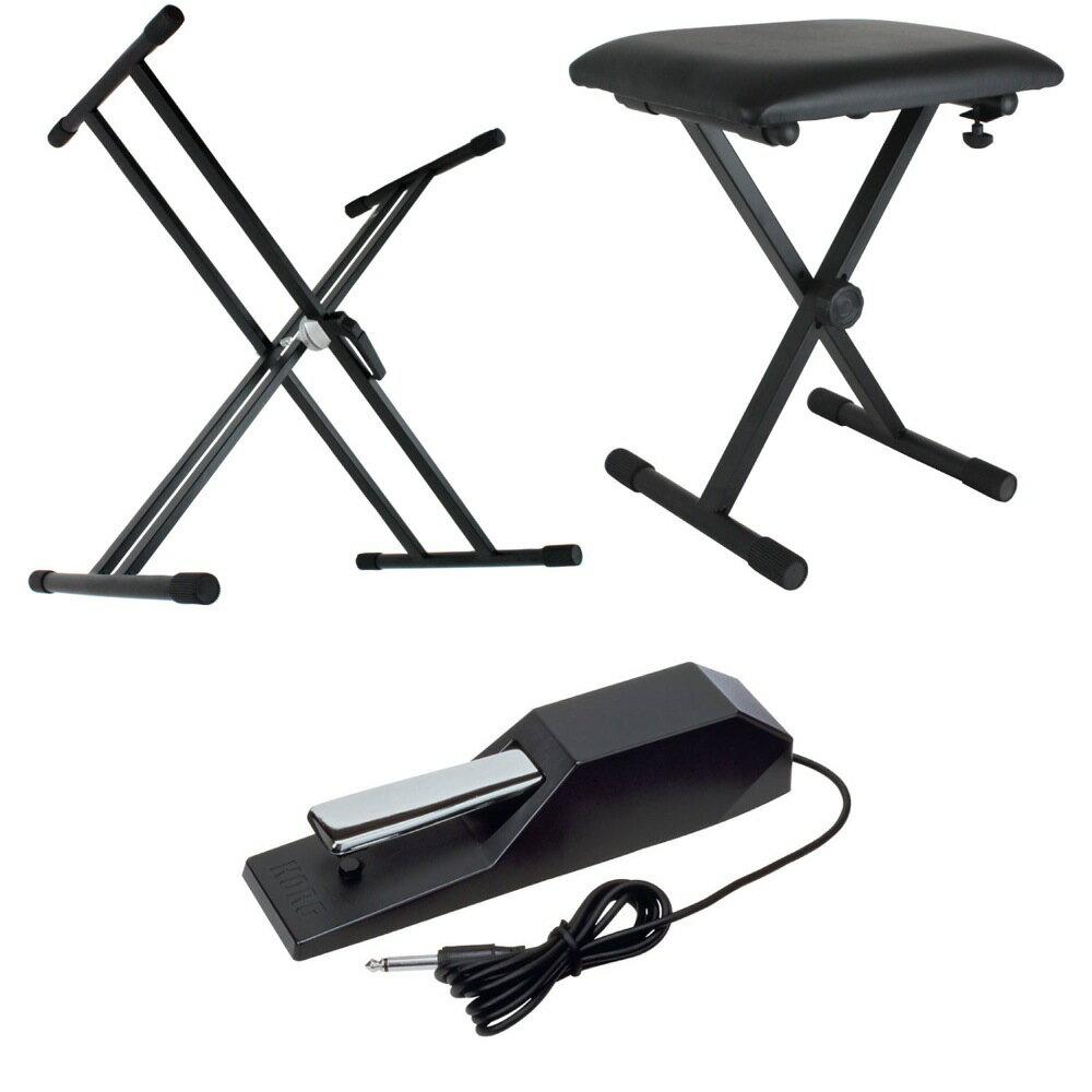 DiconAudioX型キーボードスタンドピアノ椅子KORGダンパーペダル電子ピアノアクセサリ3点セ