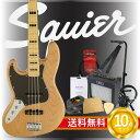 スクワイア エレキベース初心者セット ジャズベタイプ 左利き用エレキベース入門10点セット Squier Vintage Modified Jazz Bass '70s Left-Hand NAT エレキベース