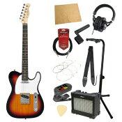 エレキギター入門11点セット BACCHUS BTC-1R 3TS