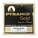 PYRAMID STRINGS EG Gold 011-048 chrome nickel flatwounds on round core フラットワウンド エレキギター弦×3セット
