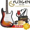 フジゲン 国産エレキギター 初心者セット ストラトタイプフジゲンから始める! エレキギター入門セット FUJIGEN FGN Basic Classic BCST10RBD 3TS/01 エレキギター VOXアンプ付 11点セット