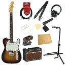 フェンダー エレキギター初心者セット テレキャスタータイプフェンダーから始める!大人の入門セット Fender Made in Japan Traditional 60s Telecaster Custom 3TSB エレキギター VOXアンプ付 11点セット