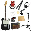 フェンダー エレキギター初心者セット テレキャスタータイプフェンダーから始める!大人の入門セット Fender Made in Japan Traditional 60s Telecaster Custom BLK エレキギター VOXアンプ付 11点セット