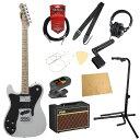 フェンダー エレキギター初心者セット テレキャスター 左利き用フェンダーから始める!大人の入門セット Fender Made in Japan Traditional 70s Telecaster Custom Left-Hand AWT レフティ エレキギター VOXアンプ付 11点セット