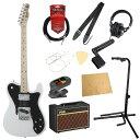 フェンダー エレキギター初心者セット テレキャスタータイプフェンダーから始める!大人の入門セット Fender Made in Japan Traditional 70s Telecaster Custom Arctic White エレキギター VOXアンプ付 11点セット
