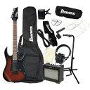 エレキギター 入門セット IBANEZ GRG150B WNS アクセ