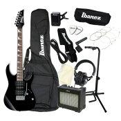 エレキギター 入門セット IBANEZ GRG170DX BKN アクセサリーセット付き
