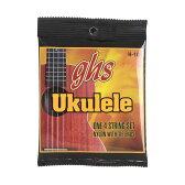 GHS H-10/Hawaiian Ukulele Black Nylon ウクレレ弦×3セット