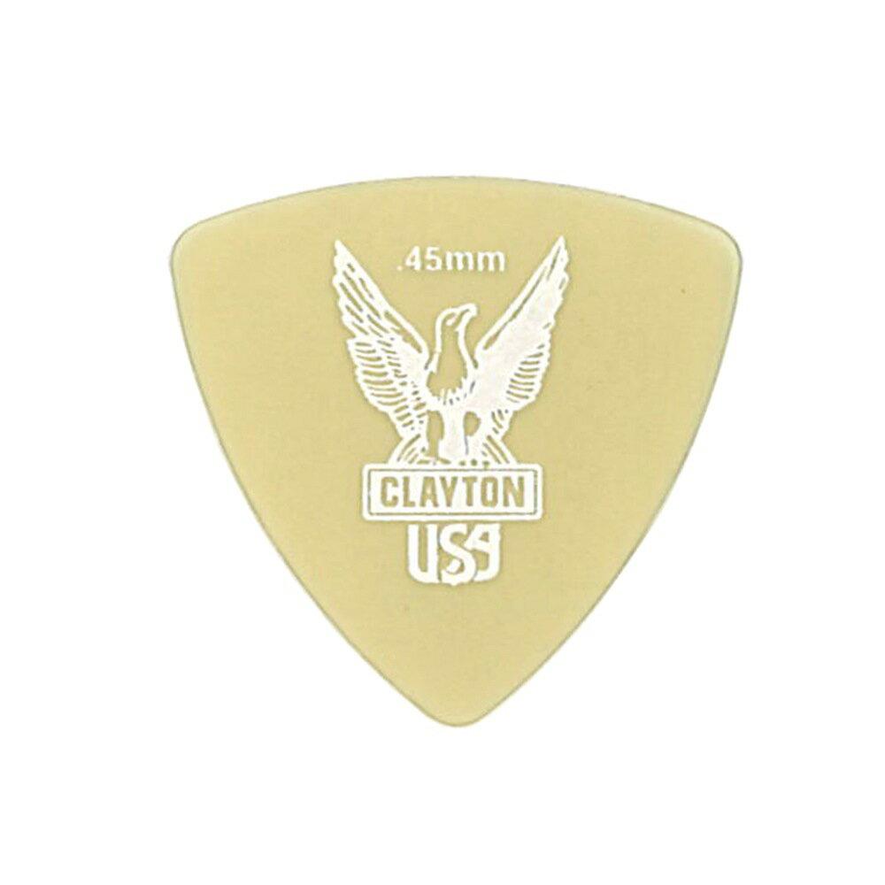 Clayton USA Ultem Gold 0.45mm 丸肩トライアングル ギターピック×36枚