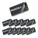Duracell Procell PRO-9V 9V形 アルカリ乾電池×12個セット