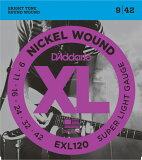 【お得な3セット】D'Addario EXL120 09-42 エレキギター弦×3セット