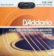 D'Addario EXP15 Coated Phosphor Bronze Extra Light×3SET アコースティックギター弦