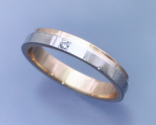 AI(アイ)プラチナ+K18ピンクゴールド コンビ リング/結婚指輪 「lumiere(ルミエール)」Men's【送料無料】【コンビニ受取対応商品】 プラチナリング・マリッジリング(結婚指輪)