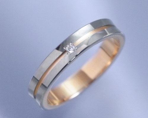 AI(アイ)K18ホワイトゴールド+K18ピンクゴールド コンビ リング/結婚指輪 reve(レーヴ)Lady's【送料無料】【コンビニ受取対応商品】 ホワイトゴールド/ピンクゴールドリング・マリッジリング(結婚指輪)