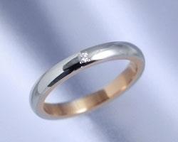 AI(アイ)プラチナ+K18ピンクゴールド コンビ リング/結婚指輪 Jupiter(ジュピィテール)Lady's【送料無料】【コンビニ受取対応商品】 プラチナリング・マリッジリング(結婚指輪)