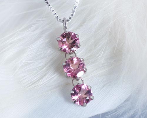 10月誕生石ネックレス ピンクトルマリン プリマ...の商品画像