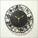 [送料無料] ラウンドウォールクロック PRAH-592時計 壁掛け おしゃれ 鳥 アンティーク かわいい 壁掛け時計 アイアン 鉄 時計 掛け時計 鳥 カント...
