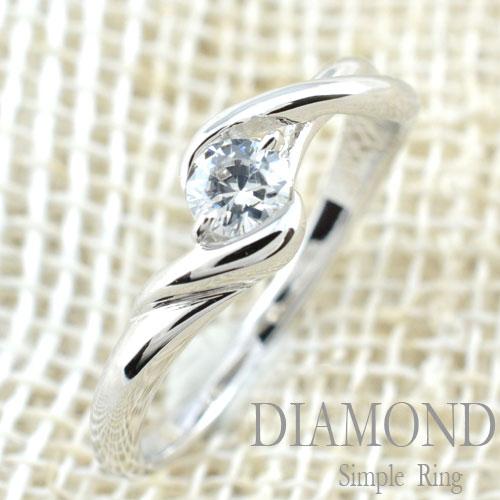 [送料無料] 結婚指輪 婚約指輪 レディース ブライダル ダイヤモンド リング 一粒 ダイヤ  0.20ct プラチナ リング 指輪 エンゲージリング【_包装】0824カード分割 シンプルで永く愛せる一粒ダイヤリング