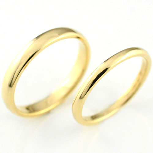【送料無料】ペアリング マリッジリング k18 甲丸 イエローゴールド 18k シンプル 記念日 石なし 指輪  婚約指輪 エンゲージリング 結婚指輪【_包装】0824カード分割 結婚指輪 ペアリング マリッジリング 送料無料
