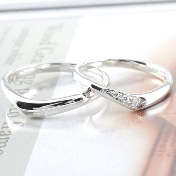 【送料無料】ペアリング 結婚指輪 マリッジリング k18 ホワイトゴールド ゴールド ダイヤモンド 18k ペア 2本 セット ダイヤ 18金 ペアリング メンズ レディース 記念日 指輪 【_包装】0824カード分割 ペアリング 結婚指輪  k18 ホワイトゴールド マリッジリング ダイヤモンド 送料無料